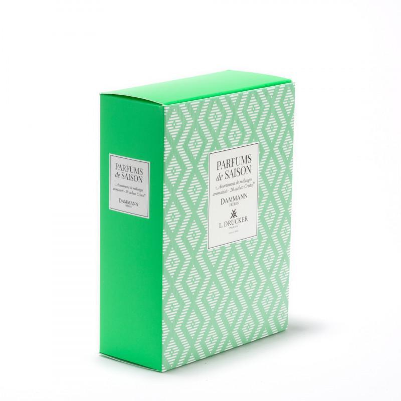 Coffret vert parfums de saison printemps ete 2021 20 sachets assortis