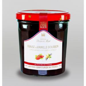 Conf de fraise vanille bourbon au sucre de canne