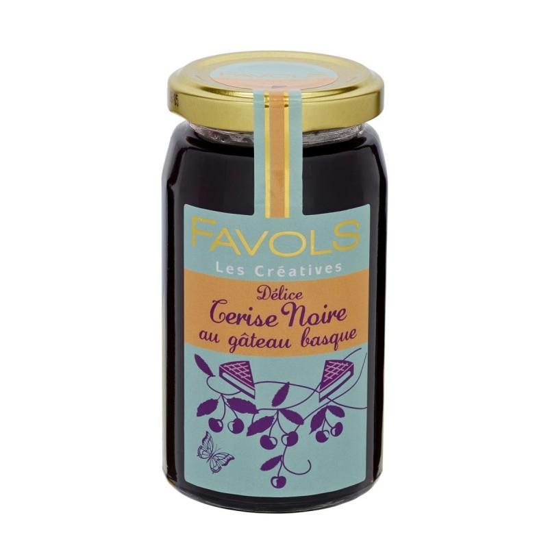 Delice cerise noire au gateau basque