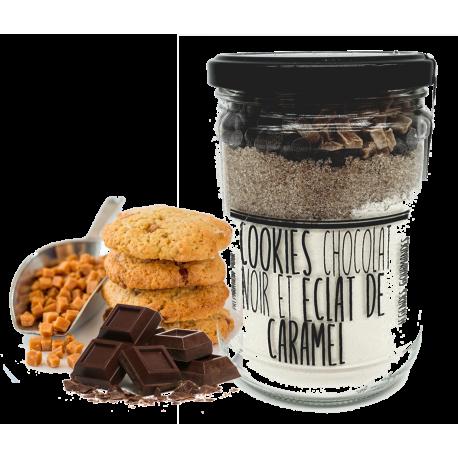 Preparation cookies chocolat caramel