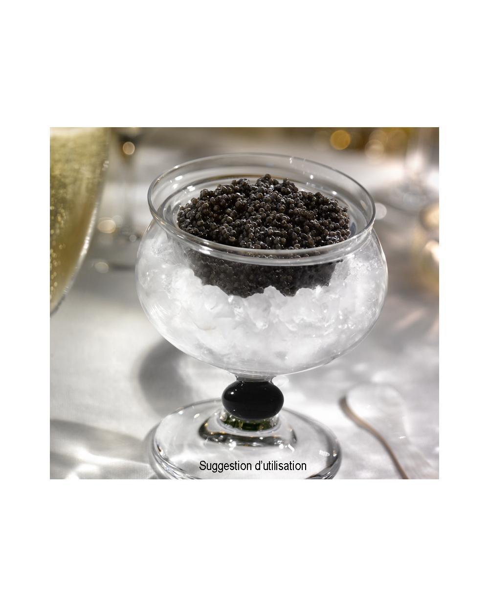 Service a caviar en verre souffle