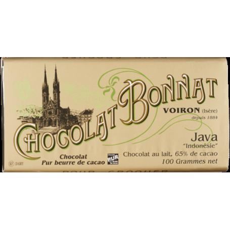 Tablette chocolat au lait java bonnat