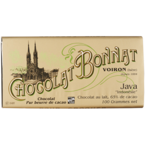 Tablette chocolat au lait java bonnat