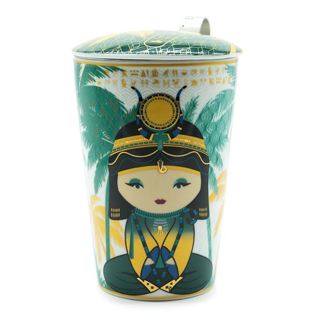 Tisaniere teaeve little egypt petrol porcelaine double paroi